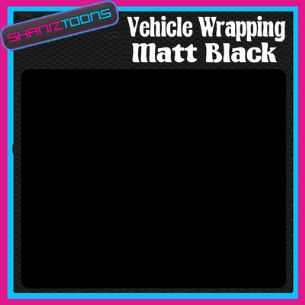 10M X 1520mm VEHICLE CAR VAN WRAP MATT BLACK FINISH
